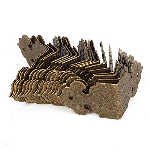 BQLZR bronze Decorativ Box Kantenschutz Kantenabdeckung Graviert Design Vintage Packung mit 20