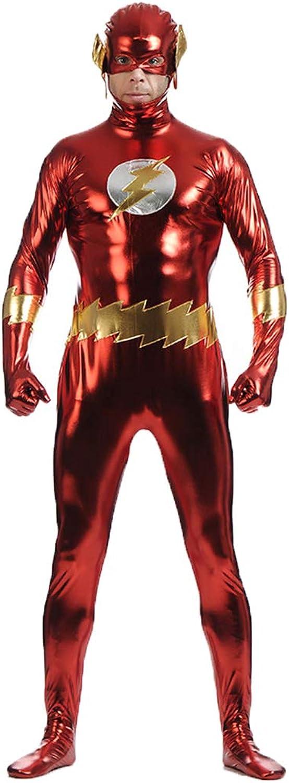 servicio considerado Flash Halloween Disfraces de de de Anime de Halloween Traje de poliéster de una Pieza CosJugar TheFlash,rojo-XXL  entrega rápida
