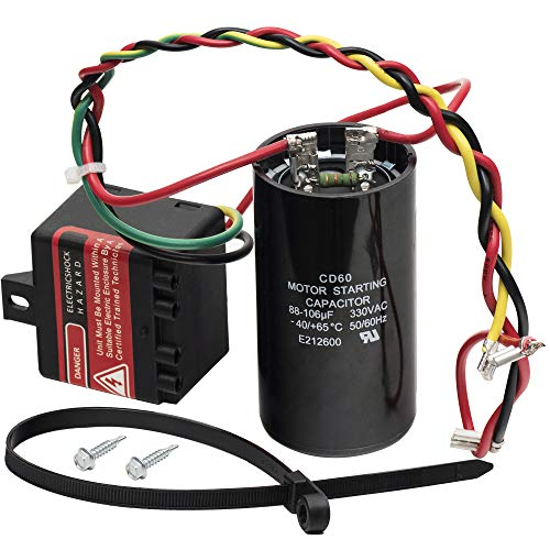 Ultra Durable 5-2-1 CSR-U1 Compressor Saver Hard Start Capacitor by Blue Stars - Compatible for 1 to 3 Ton Units