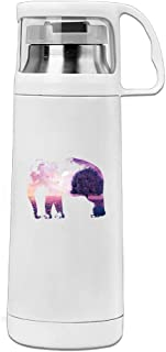 Elephant In Purple World Stainless Steel Transparent Cover With Lid Cup Thermos Cup