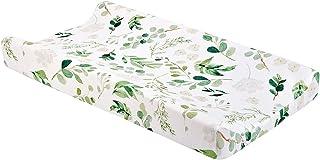 Babyvårdsstation skötbord, spädbarn stretchigt tyg vagga madrasslakan för baby barnkammare blöjbytesdyna, 80 x 40 cm (grön...