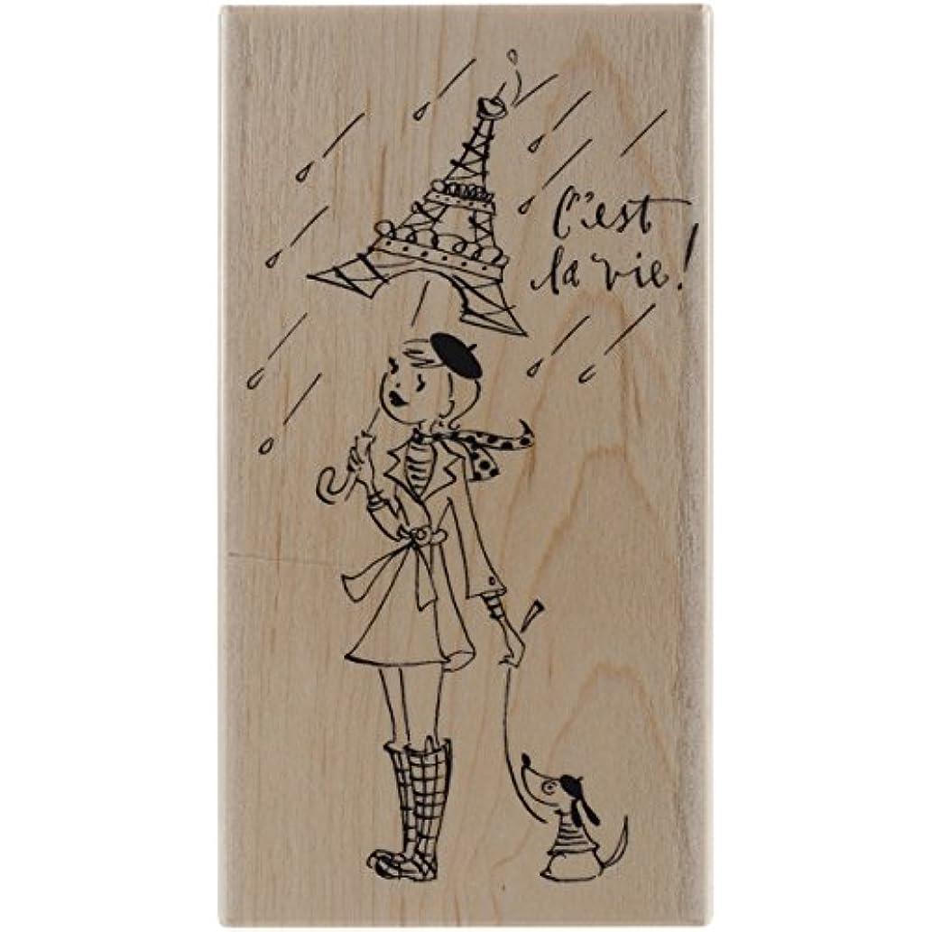 Penny Black 4392K C'est La Vie Wood Mounted Rubber Stamp