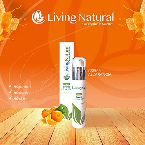 Crème végétalienne visage femme à l'orange anti-stress living naturel