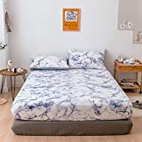 HPPSLT Protector de colchón, algodón, poliéster, Funda Protectora de sábana...
