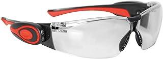 JSP ASA106-121-300 Stealth 8000 - Gafas de trabajo antivaho con linterna led (marco transparente)