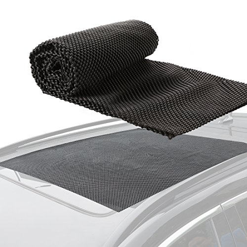 """CZC AUTO Car Roof Cargo Carrier Bag Protective Mat, Non Slip SUV Rooftop Luggage Rack Pad, Anti Skid Truck Bed Protector Universal Work with Vehicle Roof Top Storage Box Crossbar Rack Basket 39""""x36"""""""