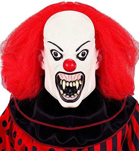 Widmann – masker Killer Clown met pruik Mens, wit, één maat, vd-wdm05405