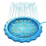 Mafiti Splash Pad,Tapete De Juegos De Agua Almahadilla Aspersor De Agua Inflable 170cm Al Aire Libre Para Niños, Mascotas en Jardín y Fiesta Casera Regalo Para Verano