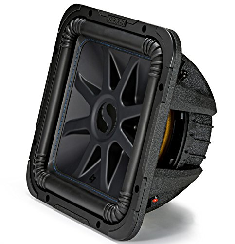 Kicker L7S12 Car Audio Solo-Baric 12 Subwoofer Square L7 Dual 2 Ohm Sub 44L7S122 (Renewed)