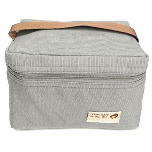 Nopea Picknick Tasche Kleine Tragbare Kühltasche Mini Mittagessen Taschen wasserdichte Mittagessen Beutel Imbiss Isolierung Taschen Für Campingreisen Grau