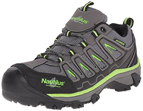 Nautilus 2208 Light Weight Low Waterproof Safety Toe EH Hiking Shoe, Grey, 11.5 W US