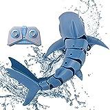 LYXCM Barcos RC para niños rápido, Juguete de tiburón teledirigido eléctrico 2.4Ghz   Juguetes de Piscina Recargables de Barco de Carreras de Alta Velocidad para niños
