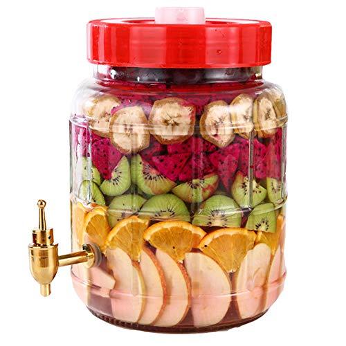 ZYQDRZ Automatic Exhaust Fruit Enzyme Barrel, Fermentation Airtight Tank, Lead-Free Glass, Self-Brewed Wine Bottle, Kimchi Jar, 5L-25L,25L