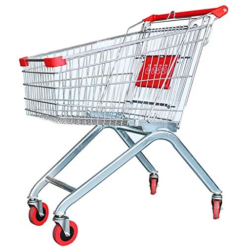 Carro de la Compra Plegable con Asiento Carro de la Compra del Mercado con Ruedas Carro de Rejilla del Estante del supermercado actualización versión Alta