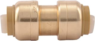 SharkBite 1/2-Inch Straight Coupling, Push-to-Connect, PEX, Copper, CPVC, 4 Count