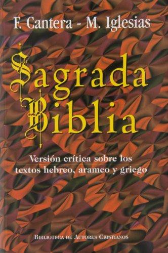 Sagrada Biblia. cantera. Maior 10: Versión crítica sobre los textos hebreo, arameo y griego