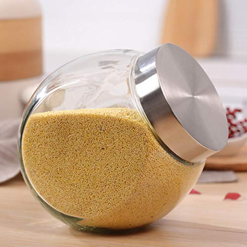 ytrewq Küche LebensmittelvorratsglasGewürzvorratsbehälter GlasflascheGroßegesunde Limonadenglasverpackung 1.7L -1.7L