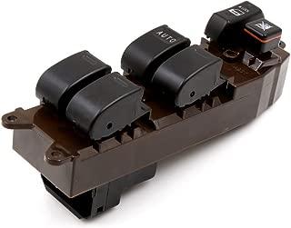 sourcingmap Izquierda Ventanilla Derecha Mando de Interruptor de 1 Bot/ón de Control Principal Maestro para Elevalunas El/éctrico Gris 5 Pines Con Arn/és de Cableado Conector 12V
