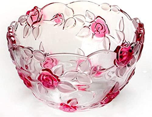 Cuencos de frutas Rose Cristal Casa Casa Sala de estar de la...