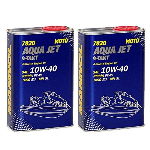 MANNOL 2 x 1L 7820 Aqua Jet 4-Takt 10W-40 / API SL NMMA FC-W Jetskis Motoröl