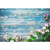 Fondo de Madera de Vinilo para Tablero de fotografía Flor de Primavera Comida para Mascotas Retrato Fondos fotográficos Estudio fotográfico A37 7x5ft / 2.1x1.5m
