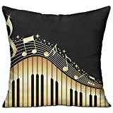 FPDecor Multi-Sized Zierkissen Novel Music Note Prints Cushion Cover Polyester Cover Zipper...