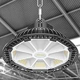 Campana LED Industrial UFO 150W Airand Lámpara Industrial 21000LM UFO LED Iluminación Comercial Impermeable IP65 Lámpara de Alta Bahía para Almacén Garaje Fábrica Taller Gimnasio Sótano Blanca Fría