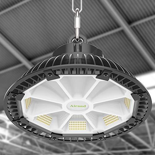 Hallenbeleuchtung LED Hallenstrahler 150W Airand LED Industrielampe UFO IP65 Wasserdicht Reflektionsdesign LED Industriebeleuchtunge 21000LM LED High Bay Licht für Warenhaus Garage 5500K Kaltweiß