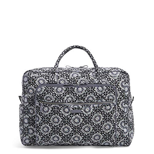 Vera Bradley Iconic Grand Weekender Travel Bag, Signature Cotton, Charcoal Medallion, One Size