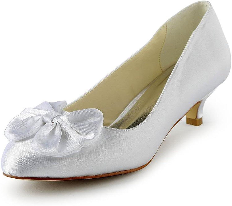 298a2698a485a Jia Jia Women's Bridal 0112 Peep Toe Hight Heel Satin Wedding shoes ...