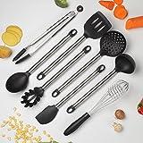 COOKSMARK, set di utensili da cucina 8pezzi, lavabili in lavastoviglie,include 1pinza,schi...