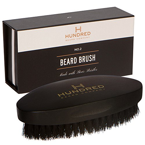 Boar Bristle Beard Brush - Perfect For Balms and Oils - Natural, Soft Boars Hair - For Help...