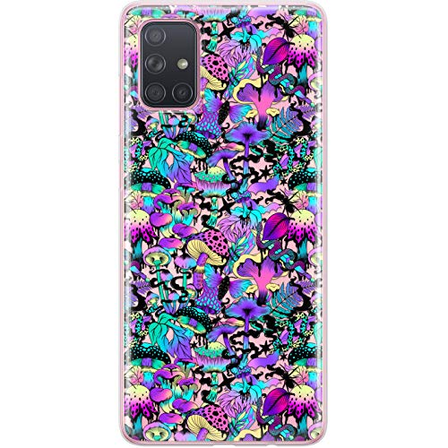 Lex Altern Case Compatible with Samsung Galaxy A72 A71 5G A70 A51 A50 A20 A11 A01 Mushrooms Lightweight Clear LSD TPU Trippy Pattern Forest Psychedelic Slim Gel Silicone Protective Cover phh022