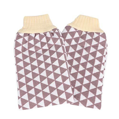 TOPBATHY 2 stks Badhanddoek Dubbele Laag Exfoliërende Hammam Handschoenen Body Scrubber Handschoen Dode Huidverwijderaar voor Mannen Vrouwen (Random Kleur)