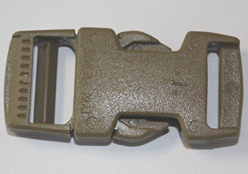 ITW Nexus #1515 Boucle de dégagement latéral pour sangle tactique militaire Marron 20 mm