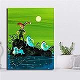 WSHIYI Poster Peter Pan Bilder Film Wandkunst Mary Blair