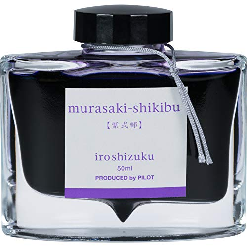 PILOT Iroshizuku Bottled Fountain Pen Ink, Murasaki-shikibu, Japanese Beautyberry (Purple) 50ml Bottle (69221)
