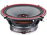 DS18 EXL-SQ5.25 - 5.25-Inch 3-OHMS High Sound Quality Speaker - Sleek Compact Design with A Chrome Finish - Superior Bass Response - 800 WATTS Max - SET OF 2