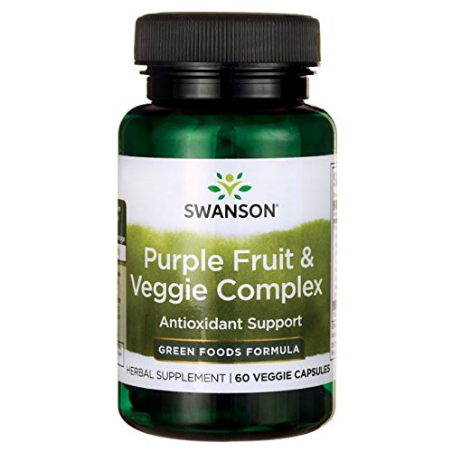 Swanson Whole Food Purple Antioxidants Fruit & Veggie Complex 400 Milligrams 60 Veg Capsules