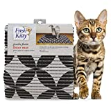 """Fresh Kitty Durable XL Jumbo Foam Litter Box Mat – BPA and Phthalate Free, Water Resistant, Traps Litter from Box, Scatter Control, Easy Clean Mats – Gray Pattern 40""""x 25"""" (9052)"""