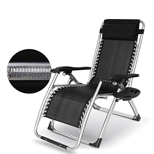 HTZ Chaise Gris Réglable Vieille Chaise Pour Enfants | Chaise De Loisirs Pliante | Chaise De Loisirs De Bureau Chaise De Plage NAP Chaise Casual Inclinable Personnel 178x65x80cm A++