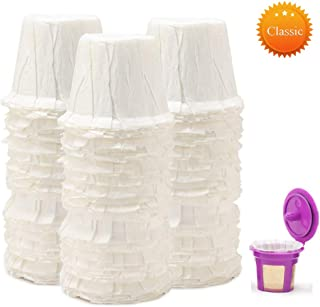 BELR Disposable Paper Coffee Filters Cups Compatible for K Series Pods Coffee Machine(100 Filters) (White)