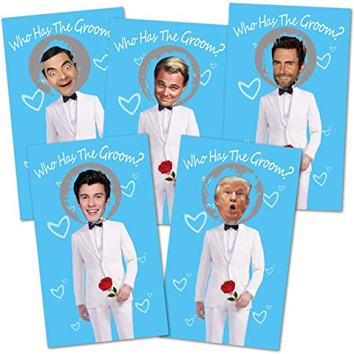 Bridal Shower Games - Scratch Off Bridal Shower Game.Funny Bachelorette Party Games - Who Has The Groom - 33 Sheets Blue