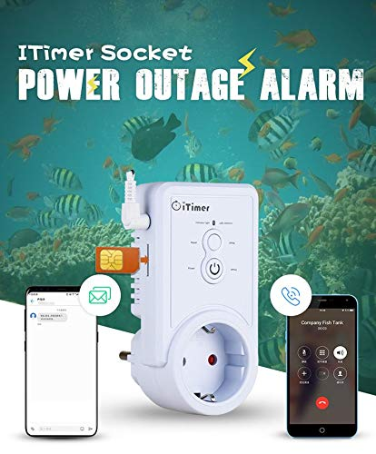GSM Power Off/Power Failure Alarm SMS Remote Control Power Switch - Temperature Query Function