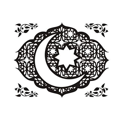 Amosfun - Adhesivo para pared islámico musulmán (PVC, extraíble)