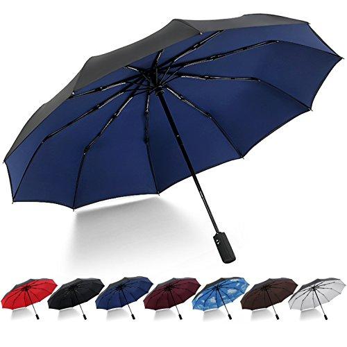 DORRISO Automatique Ouvrir Fermer Pliant Parapluie Entreprise Voyage Coupe-Vent Ombrelle /étanche Homme Femme Portable Poign/ée Antid/érapante Parapluie de Voyage