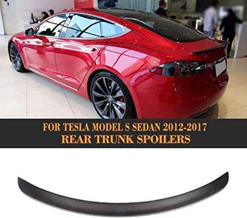WBXNB Carbon Spoiler Für Tesla Model S Heckspoilerflügel Heckspoilerlippensatz, Heckspoiler Heckspoiler Heckspoiler Heckspoiler Tesla Model S