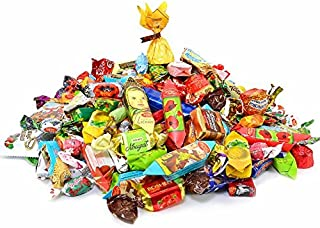 Back To USSR Chocolate, Caramel, Jelly, Fudge, & Taffy Candy Mix {Assortment Of The Most Popular Russian & Ukrainian Candy} (1 Lb)