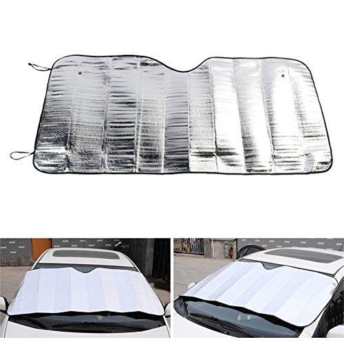 Demiawaking Sonnenschutz für die Windschutzscheibe, faltbar, Sonnenschutz für Auto, mit UV-Schutz.