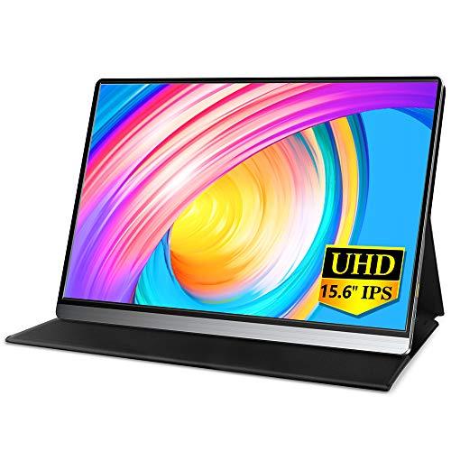MISEDI 4K 15.6インチ モバイルモニター 3840*2160 UHD モバイルディスプレイ USB Type-C*2/HD付 PSE認証済み 3年保証付